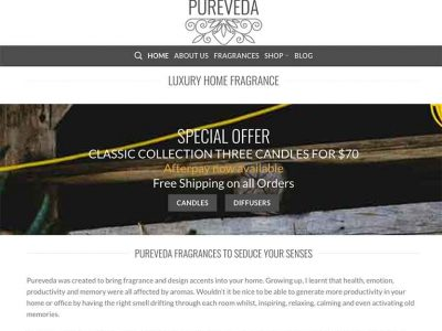 Pureveda Australian Home Fragrance Wordpressit Web Development
