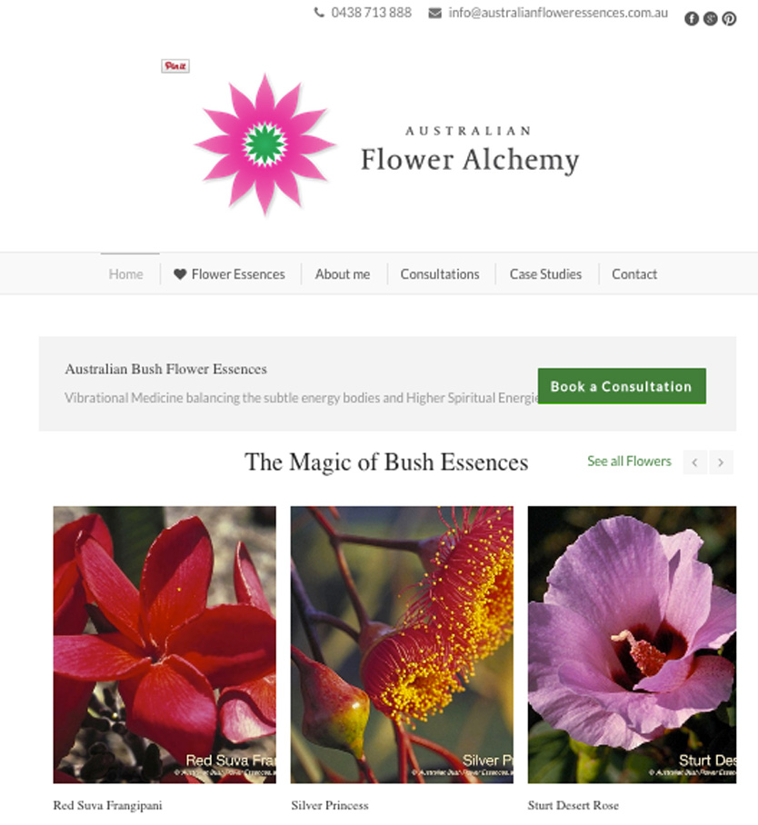 Australian Flower Essences Wordpressit Web development Loretta Faulkner