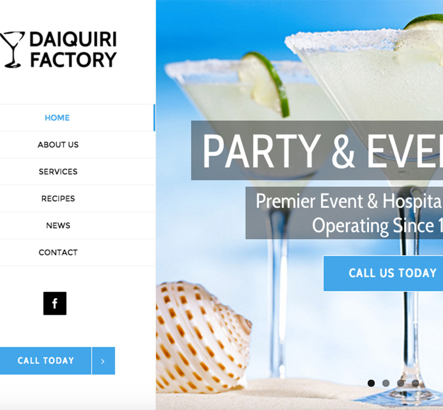 Daiquiri Factory Wordpressit Web Development