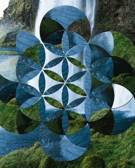 Geometric Flower of Life Collage Wordpressit Graphic Design Loretta Faulkner