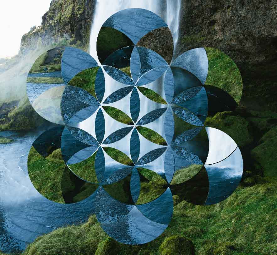 Geometric Flower of Life Collage Wordpressit Graphic Design Loretta Faulkner