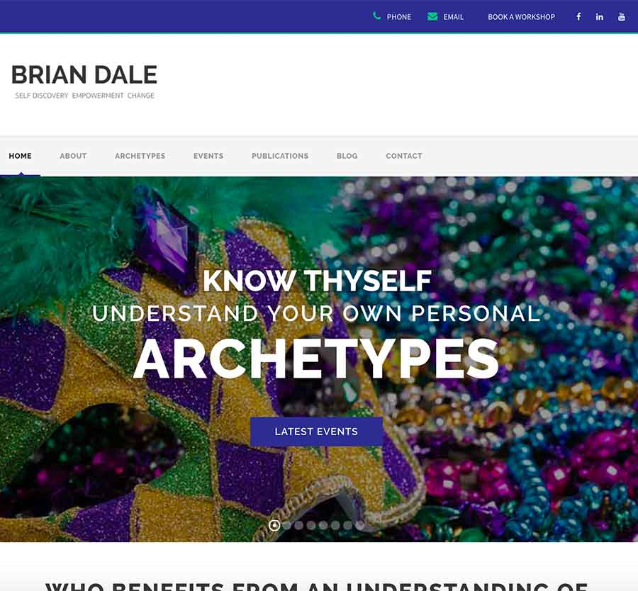 Brian Dale Author and Workshop Facilitator. Understand your Archetypes and how they influence everything you do.