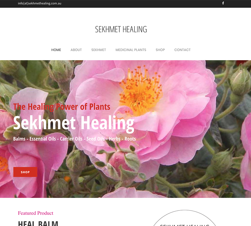 Sekhmet Healing Wordpressit Wordpress Design and Development