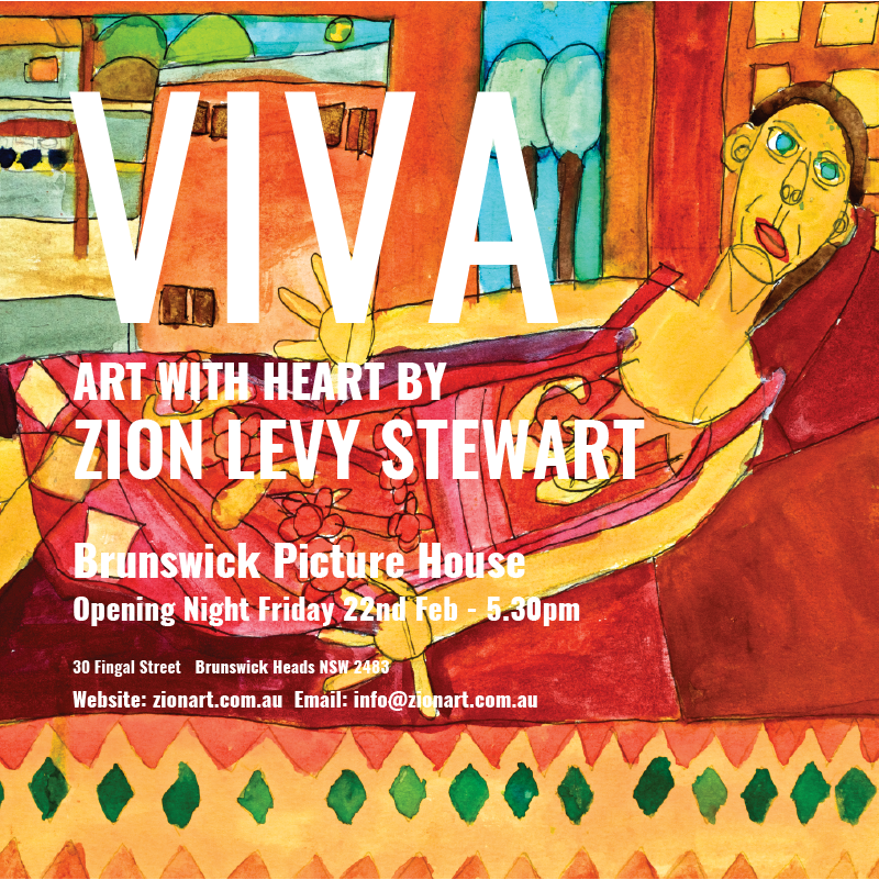 Wordpressit Instagram assets for Zion Levy Stewart Viva Art Exhibition